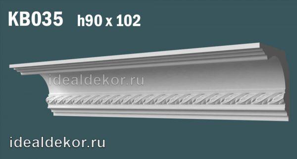 Продается kb035 гипсовый карниз с декором по цене 1048 руб.