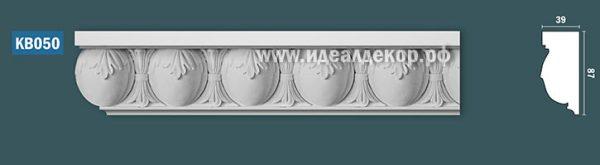 Продается kb050 гипсовый карниз с декором по цене 1142 руб.