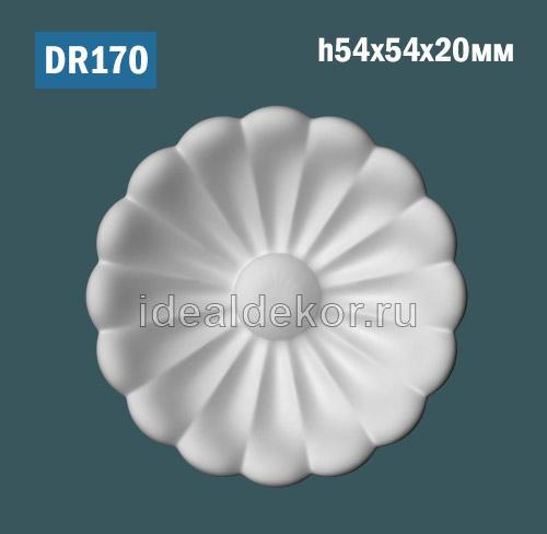 Продается dr170 элемент декора цветок из гипса на стену или потолок по цене 90 руб.