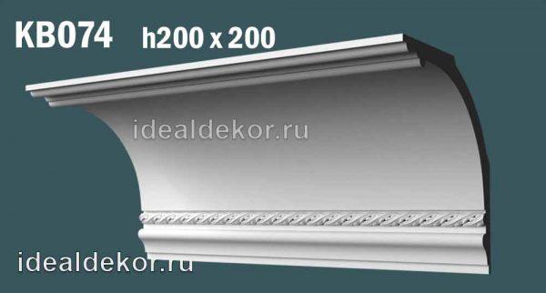 Продается kb074 гипсовый карниз с декором  по цене 1409 руб.