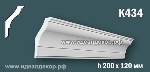 Продается к434 (гипсовый карниз с гладким профилем) по цене 1109 руб.