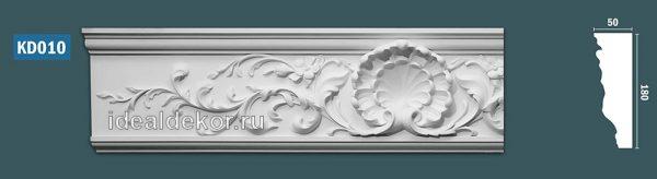 Продается kd010 гипсовый карниз с декором - h180x50мм по цене 990 руб.