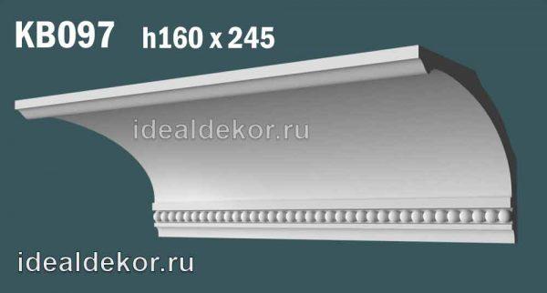 Продается kb097 гипсовый карниз с декором по цене 1450 руб.