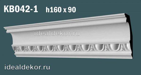 Продается kb042-1 гипсовый карниз с декором по цене 1250 руб.