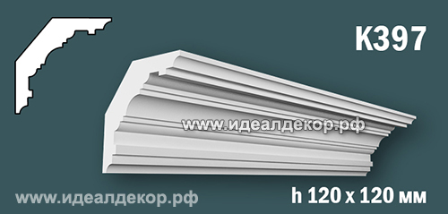 Продается к397 (гипсовый карниз с гладким профилем) по цене 665 руб.