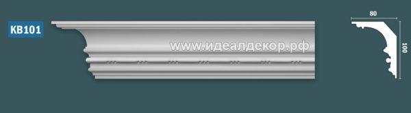 Продается kb101 гипсовый карниз с декором - h100x80мм по цене 855 руб.