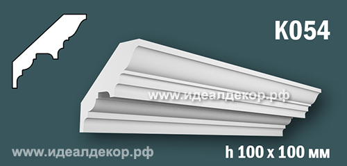 Продается к054 (гипсовый карниз с гладким профилем) по цене 555 руб.