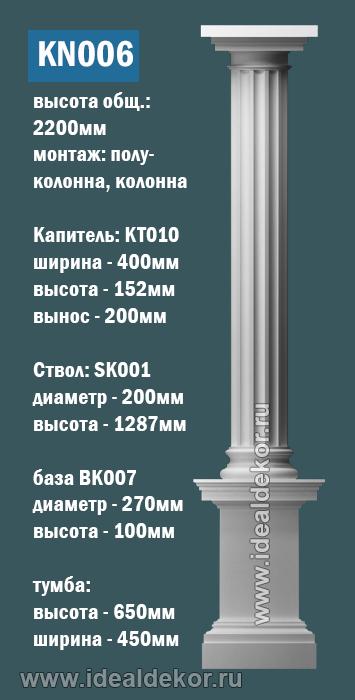 Продается kn006 - колонна гипсовая по цене 13804 руб.