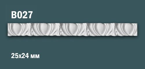 Продается декоративная гипсовая вставка (порезка) в027 по цене 199 руб.