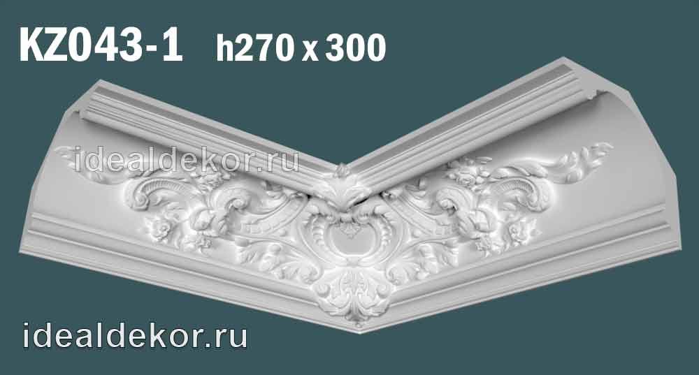 Продается kz043-1 гипсовый карниз сборный по цене 2200 руб.