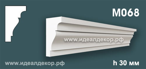 Продается m068 (гипсовый молдинг с гладким профилем) по цене 168 руб.