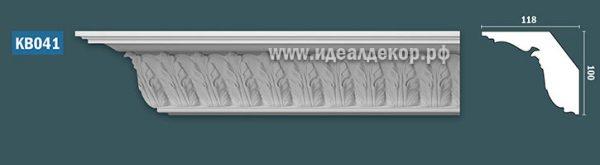 Продается kb041 гипсовый карниз с декором по цене 1109 руб.