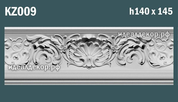 Продается kz009 гипсовый карниз сборный - h140х145мм по цене 1131 руб.