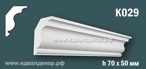 Продается к029 - потолочный плинтус гипсовый (карниз с гладким профилем) по цене 388 руб.