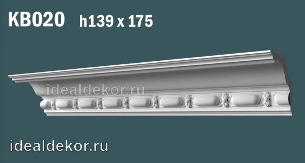 Продается kb020 гипсовый карниз с декором по цене 1143 руб.