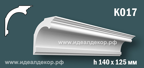 Продается к017 (гипсовый карниз с гладким профилем) по цене 776 руб.