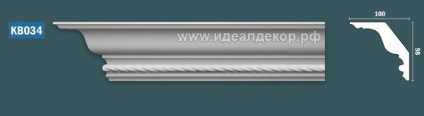 Продается kb034 гипсовый карниз с декором по цене 855 руб.