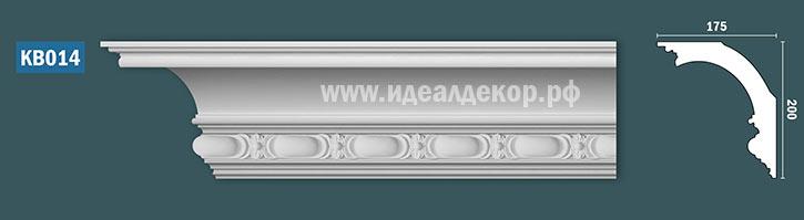 Продается kb014 гипсовый карниз с декором по цене 1477 руб.