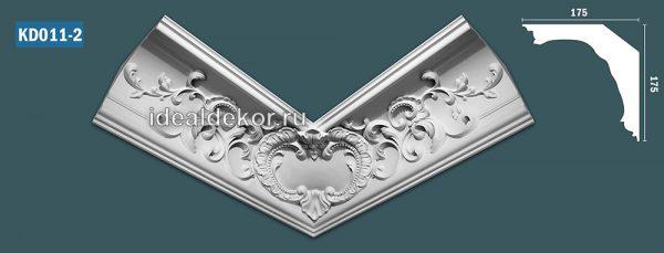 Продается kd011-2 гипсовый карниз с декором по цене 1150 руб.