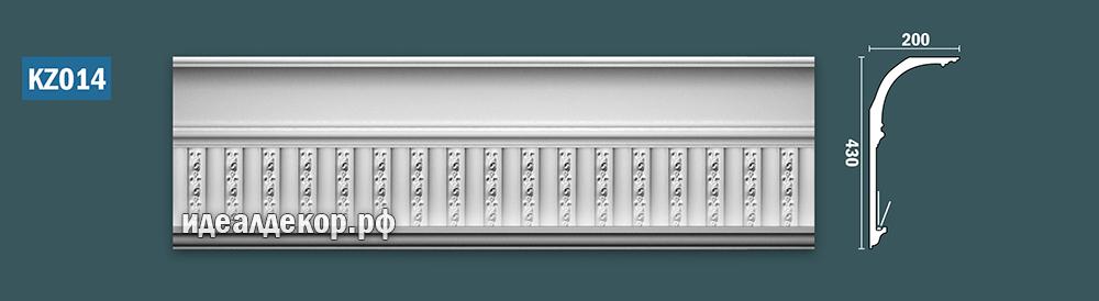 Продается kz014 гипсовый карниз сборный - h430х200мм по цене 2627 руб.
