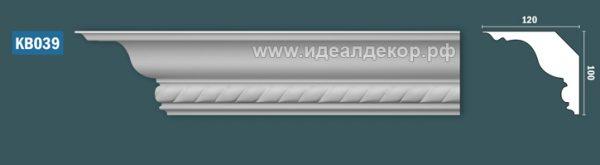 Продается kb039 гипсовый карниз с декором по цене 965 руб.