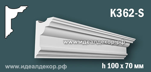 Продается карниз для скрытой подсветки из гипса (карниз гипсовый) k362-s по цене 594 руб.
