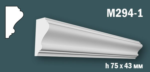 Продается m294-1 (гипсовый молдинг с гладким профилем) по цене 346 руб.
