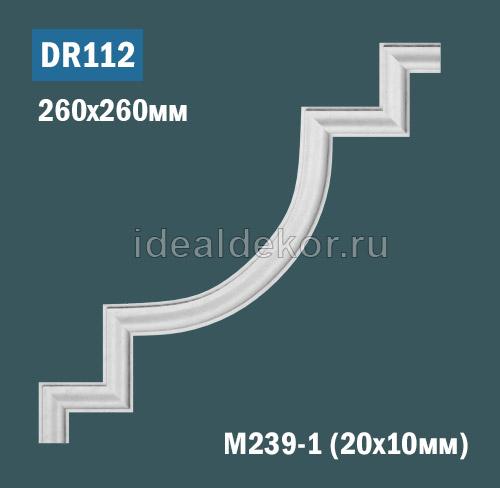 Продается dr112 угол для рамки - настенный лепной декор из гипса для лепного зеркала по цене 300 руб.