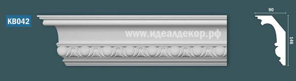 Продается kb042 гипсовый карниз с декором по цене 1132 руб.