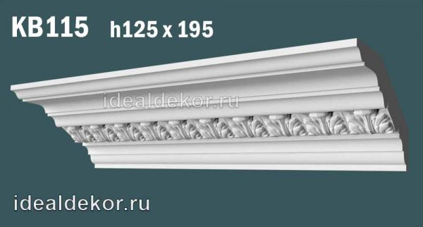 Продается kb115 гипсовый карниз с декором по цене 1370 руб.