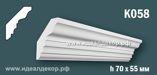 Продается к058 (гипсовый карниз с гладким профилем) по цене 388 руб.