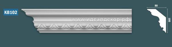 Продается kb102 гипсовый карниз с декором - h100x80мм по цене 855 руб.
