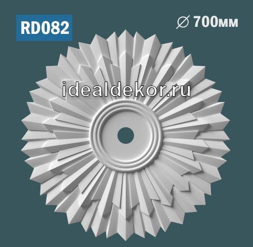 Продается rd082 потолочная розетка из гипса c рисунком по цене 1350 руб.