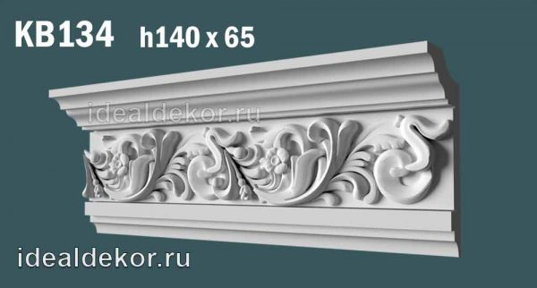 Продается kb134 гипсовый карниз потолочный с орнаментом по цене 850 руб.