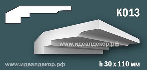 Продается к013 (гипсовый карниз с гладким профилем) по цене 609 руб.