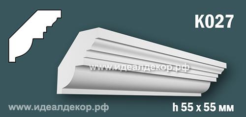 Продается к027 (гипсовый карниз с гладким профилем) по цене 305 руб.