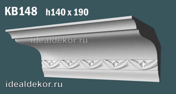Продается kb148 гипсовый карниз потолочный с орнаментом по цене 1280 руб.