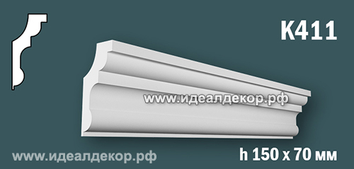 Продается к411 (гипсовый карниз с гладким профилем) по цене 832 руб.