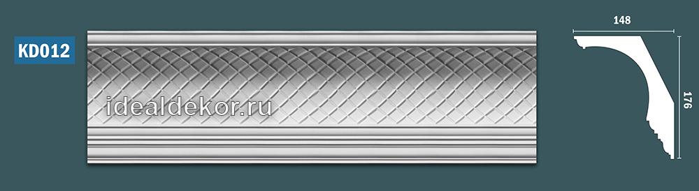 Продается kd012 гипсовый карниз с декором - h176x148мм по цене 1250 руб.