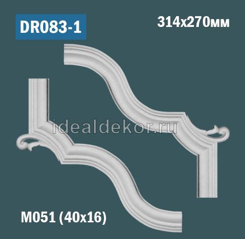 Продается dr083-1 угол для рамки - настенный лепной декор из гипса для лепного зеркала по цене 780 руб.