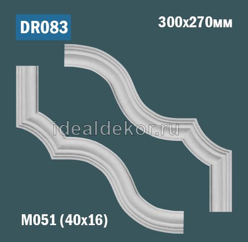 Продается dr083 угол для рамки - настенный лепной декор из гипса для лепного зеркала по цене 815 руб.
