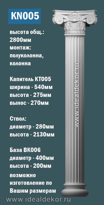 Продается kn005 - колонна гипсовая  по цене 15098 руб.