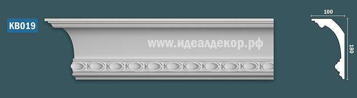 Продается kb019 гипсовый карниз с декором по цене 1298 руб.