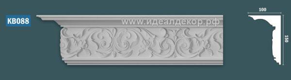 Продается kb088 гипсовый карниз с декором по цене 1442 руб.