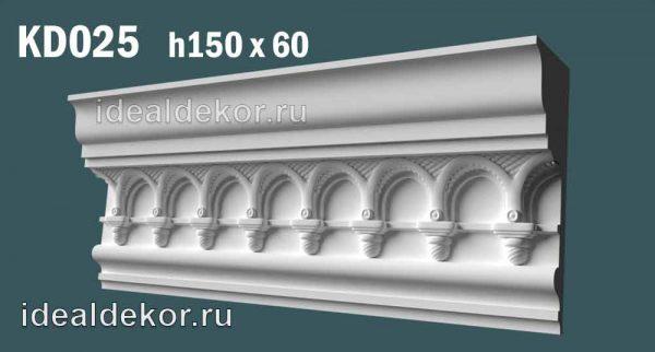 Продается kd025 гипсовый карниз с декором по цене 1350 руб.