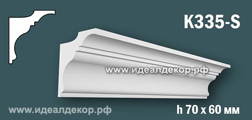 Продается карниз для скрытой подсветки из гипса (карниз гипсовый) k335-s по цене 388 руб.