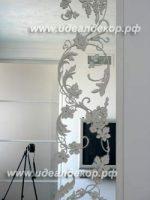 Лепнина гипсовая на зеркале - эксклюзивная